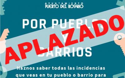 Puerto del Rosario aplaza el programa 'Por Pueblos y Barrios' hasta nuevo aviso